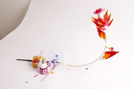 Cut & painted paper flower / Various Handmade Works II by Zim And Zou, via Behance