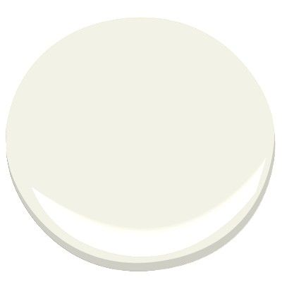 Benjamin Moore paint by Candice Olson CLOUD WHITE OC-130.  This is my go-to neutral wall color. #paint #cream:
