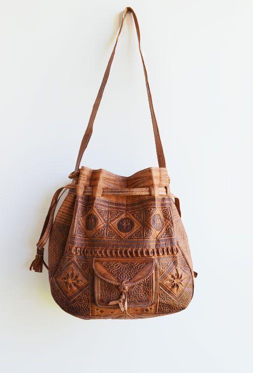 Tribal Slouchy Hippie Backpack Unique Boho Gypsy Stylish Handmade