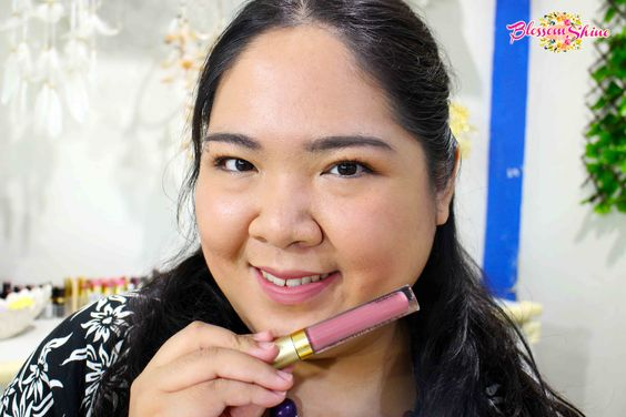 Lip Swatch Poppy Dharsono Liquefied Matte Lip Color 07 - Dusty Rose