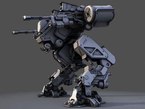 3d Mech Robot 3d Model Fg Mech By Dmitriev Vasiliy