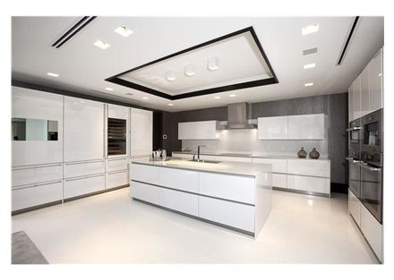 White Modern Kitchen an ultra modern, all-white, kitchen in an ultra exclusive home