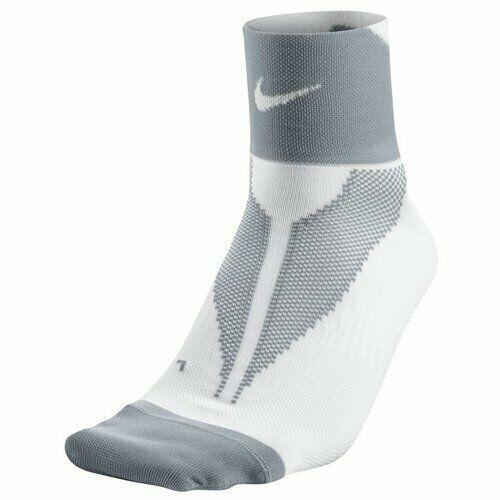 Nike Unisex Elite Lightweight Quarter High Run Socks White Gray Small Sx4953 131 Nike Quarterhigh Running Socks Women Running Socks Nike Elite