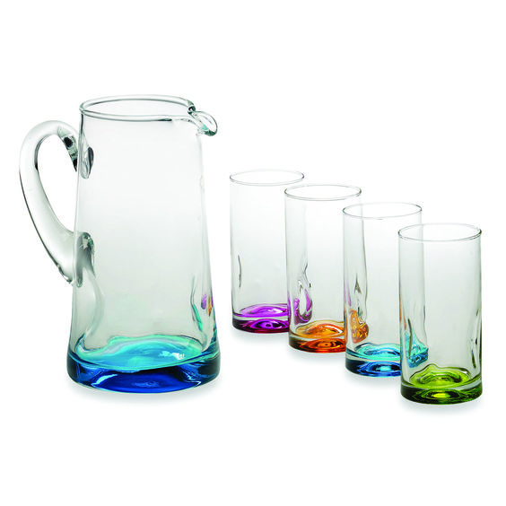 A colorful drinkware set that's ideal for enjoying cold refreshing drinks in the #summer months.