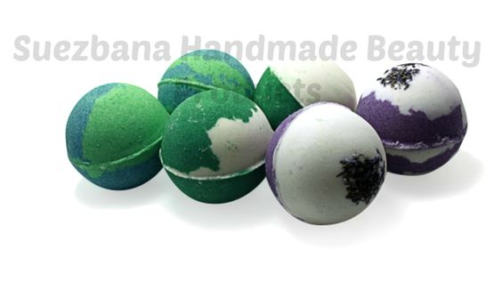 Bath bomb melts with pure essential oils simply relaxing