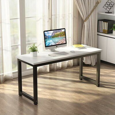Latitude Run Mikkelson Desk Large Office Desk Home Desk Office