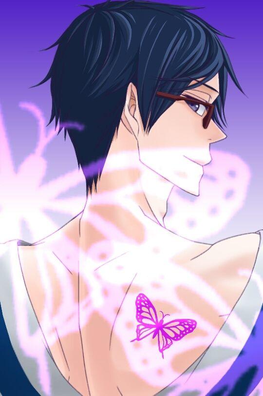 背中に蝶をまとう竜ヶ崎怜