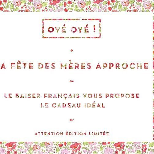 ~ Oyez Oyez ! ~  C'est la fête des mères le 29 mai.  Si vous n'avez pas encore trouvé le cadeau idéal, le baiser français en a un pour vous. Attention édition limitée ! retrouvez-le en exclu sur notre eshop • www.unbaiserfrancais.fr • Notre maman  @mona.pix pose pour la fête des mères !  #BAISERFRANCAIS #nouveaute #mothersday #cadeau #family #maman #cabas #sac #frenchbrand #shooting #tendance #lesud #unbaiserfrancais #frenchstyle #speakfrench #ete #madeinsouthoffrance #bleublancr...