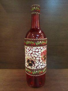 Mosaico em garrafa de vidro - Pesquisa Google