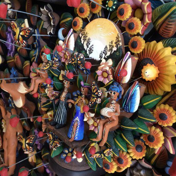 ▲ MUERTOS▲ #VioArtStudio #diseñomexicano #pottery #barrometepec #pintadoamano #miniaturas