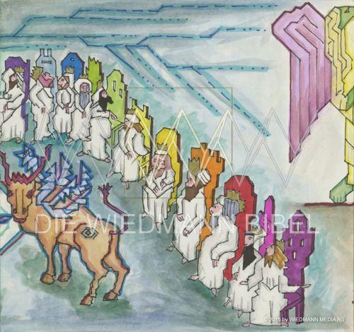 """""""Lasset uns aber rechtschaffen sein in der Liebe und wachsen in allen Stücken an dem, der das Haupt ist."""" Epheser 4:15 Bild: www.DieWiedmannBibel.de App  #willywiedmann #längstegemaltebibel #stuttgart"""