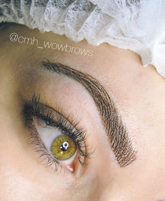 Natural Eyebrow Tattooing Melbourne Australia www.cmh-wowbrows.com Microblading hairstroke feathering feather touch brows
