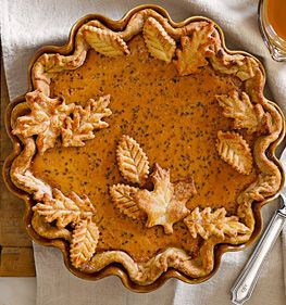 Classic Pecan Pumpkin Butter Pie | Williams-Sonoma - no pumpkin for us but I love the crust design.