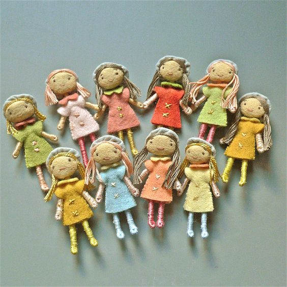 Felt dolls All About Amelie