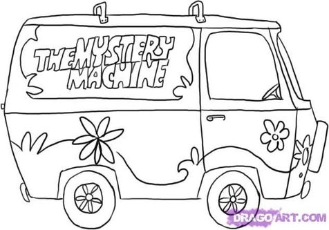 Scooby Doo Mystery Machine Coloring Pages Scooby Doo Coloring