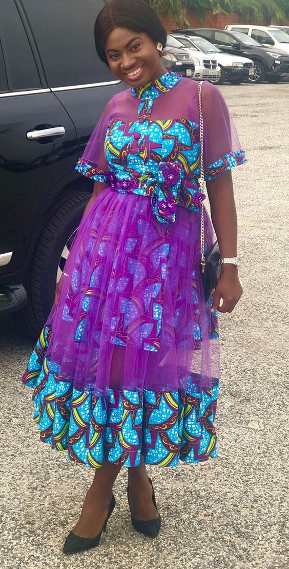 Ankara church style dress