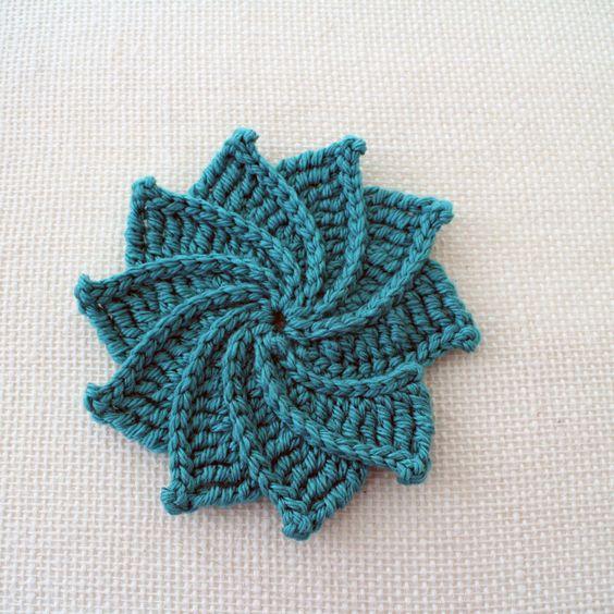 Spiral Crochet Flower Pattern Free : Spiral Crochet Flower: Free Pattern and Video Tutorial ...