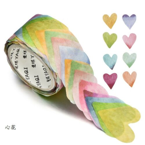 200PCS//Roll Masking Scrapbook Sticker Sticky Paper Flower Petals Tape Washi Tape