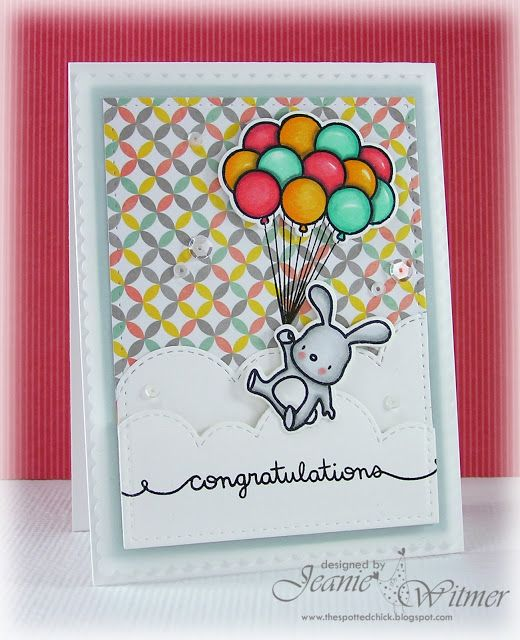 The Spotted Chick: Congratulations!, Baby, Mama Elephant, Up And Away, Handmade Card