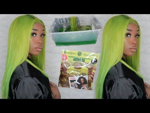 Trying The Water Color Hair Dye Method Lime Green Janet