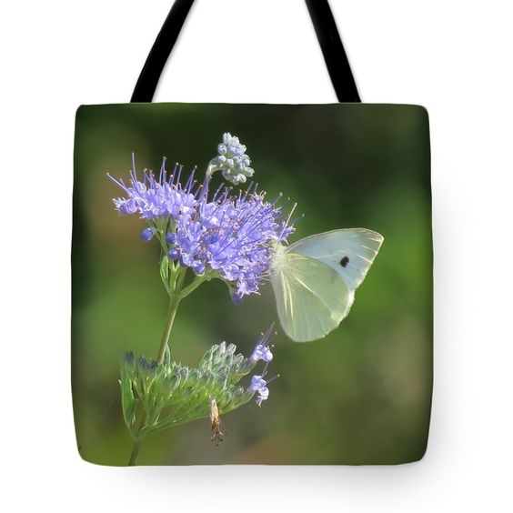 "Blue Mist Butterfly Tote Bag 18"" x 18"""