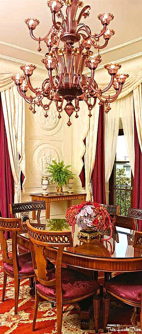 Presidential suite dining room at the four seasons florence tr s haute diva home decor - Diva hotel firenze ...
