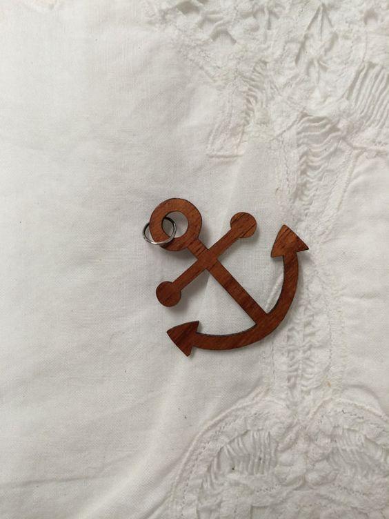 Reclaimed Koa Wood Anchor Pendant by Popuzi Reclaimed in Charlottesville,  VA and Sacramento, CA - Reclaimed Koa Wood Anchor Pendant By Popuzi Reclaimed In