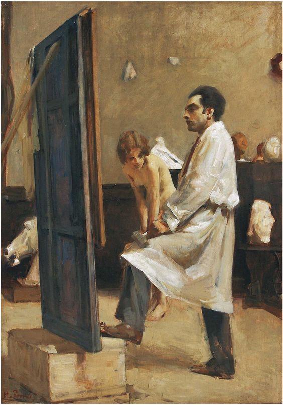 """ALESSANDRO POMI, """"CONTEMPLAZIONE"""" (CONTEMPLATION), 1930-35, OLIL ON PANEL, 88 X 68.5 CM, PRIVATE COLLECTION."""