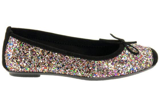 Ballerines REQINS pour femme à paillettes multicolores, modèle Harmony Glitter.  Prix : 69 € (livraison et retour gratuits) Fabriqué en Espagne.