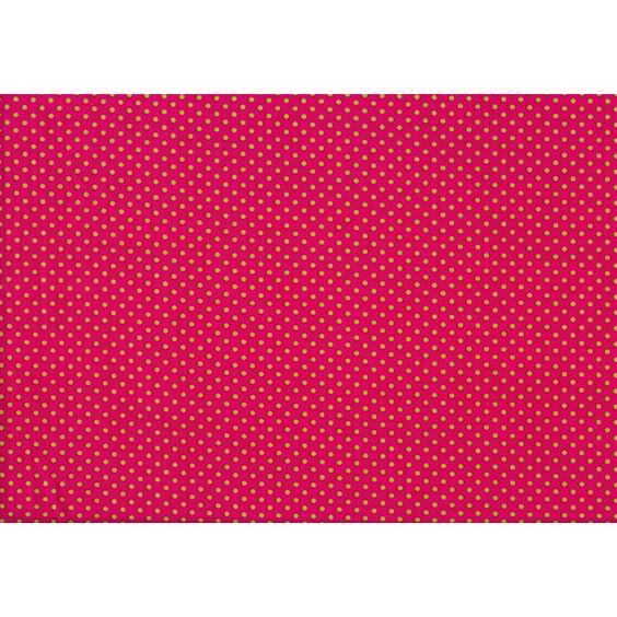 Roos met groene stipjes - Modestofjes.be - Online stoffenwinkel