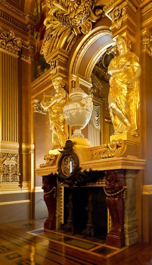 Spectacular Fireplace, Opera Garnier, Paris, France