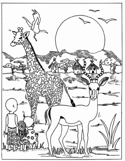 Forest Animals Coloring Sheet Luxury Luxury African Animals Savanna Coloring Page Howtobeaweso Flores Para Colorir Mandalas Para Colorir Colorir