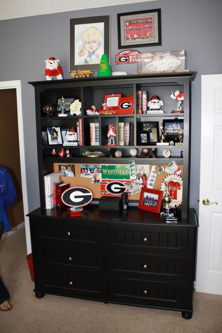 Georgia bulldogs dream bedroom bedrooms for boys for Georgia bulldog bedroom ideas