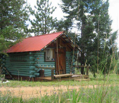 little blue cabin in Colorado