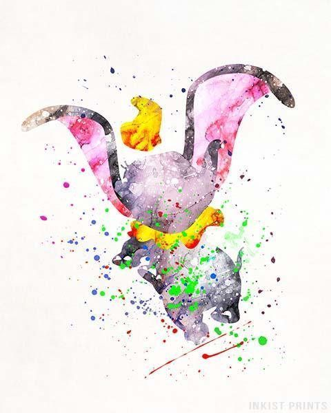 Dumbo Poster Dumbo Print Dumbo Art Dumbo Disney Print Gift
