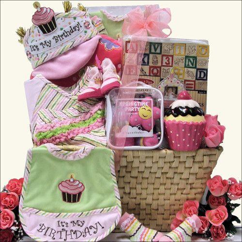 Birthday Basket, Baby 1st Birthday And Turning One On