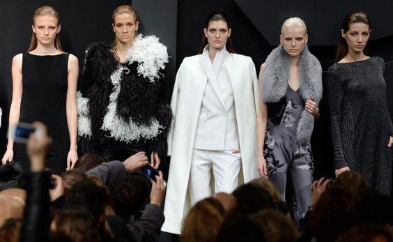 Fashion-Week Mailand: Mode von Krizia. Mehr zu den Trend aus Mailand: http://www.nachrichten.at/nachrichten/society/Top-oder-Flop-Die-ersten-Trends-aus-Mailand;art411,1313693 (Bild: EPA)