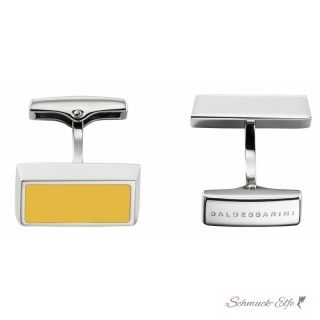 Baldessarini Steel Manschetteknöpfe rechteckig/ gelb