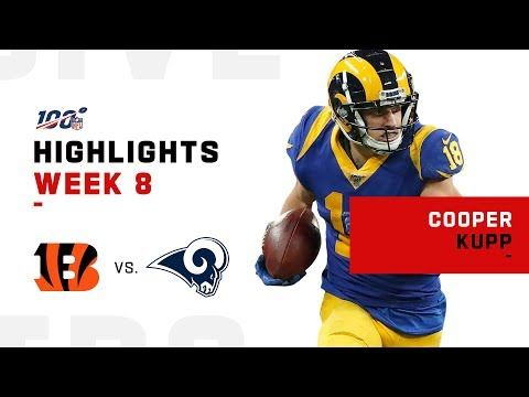 Cooper Kupp Obliterates Bengals W 220 Yds Nfl 2019 Highlights Youtube Bengals Nfl Los Angeles Rams