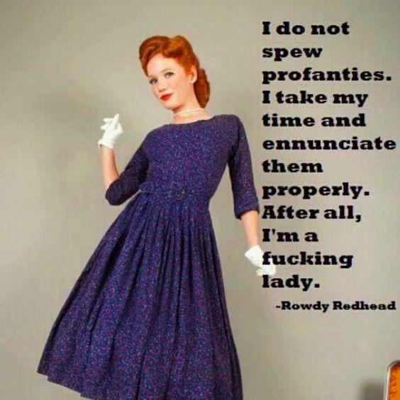 A true lady.