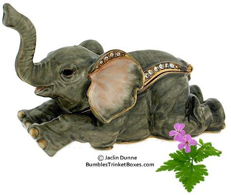 Trinket Box: Elephant Lying Down
