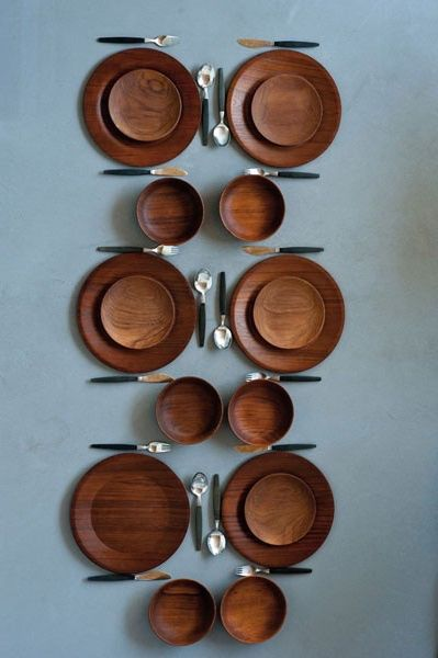 Anonymous; Teak Plates by Haenia, c1960.