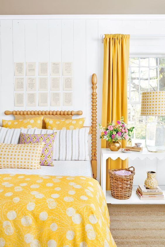 cheerful yellow bedrooms chic ideas for yellow bedroom edbb