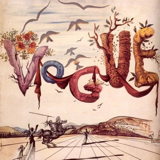 Vogue cover from 1944 by Salvador Dali.