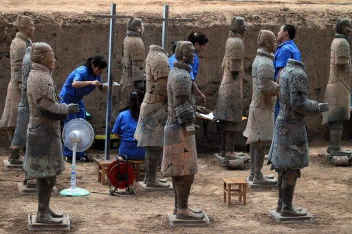 110 new terracotta warriors have been unearthed in China