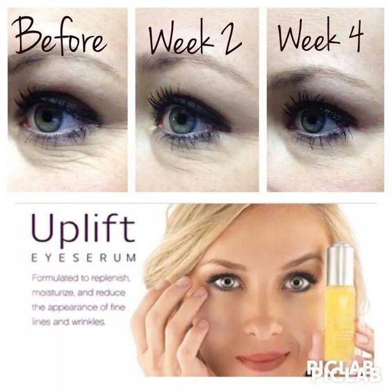 Younique uplift eye serum. Amazing stuff! Start using it now to get rid of wrinkles.