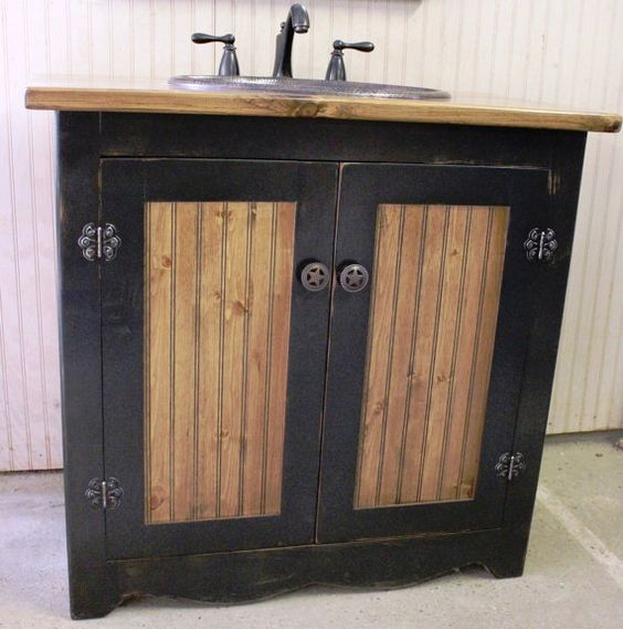 This farm house style bathroom vanity is made in our shop for Bathroom furniture quality