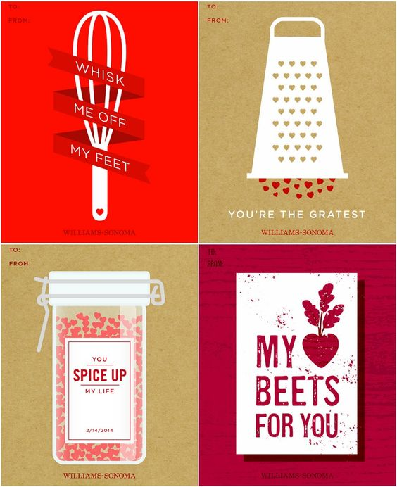 Great for budding chefs these Valentine's Day gift tags are free to download and print!