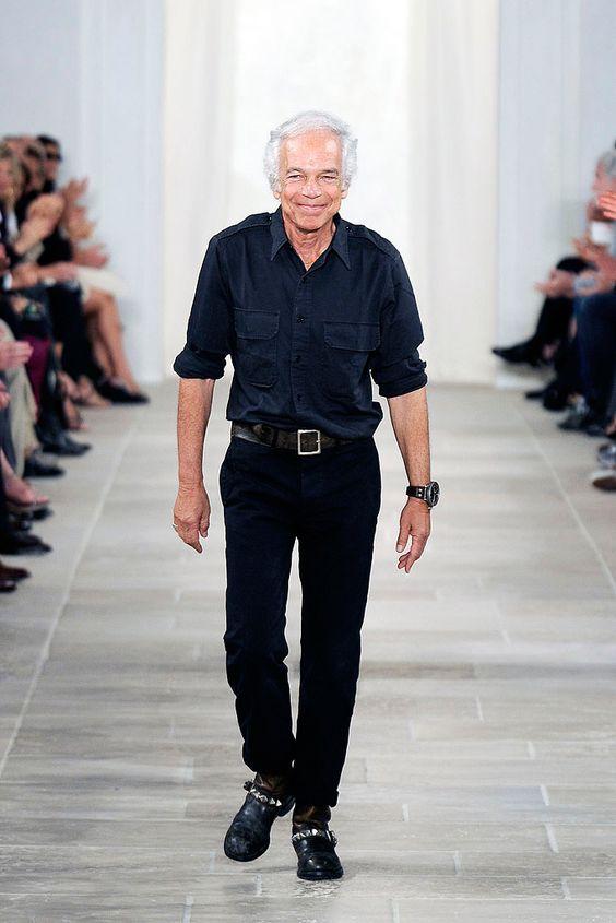 Ralph Lauren, Style Icon | Man Repeller, dark denim shirt, black trousers,