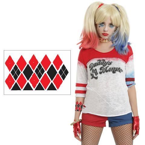 Harley Quinn Costume Temporary Arm Tattoo